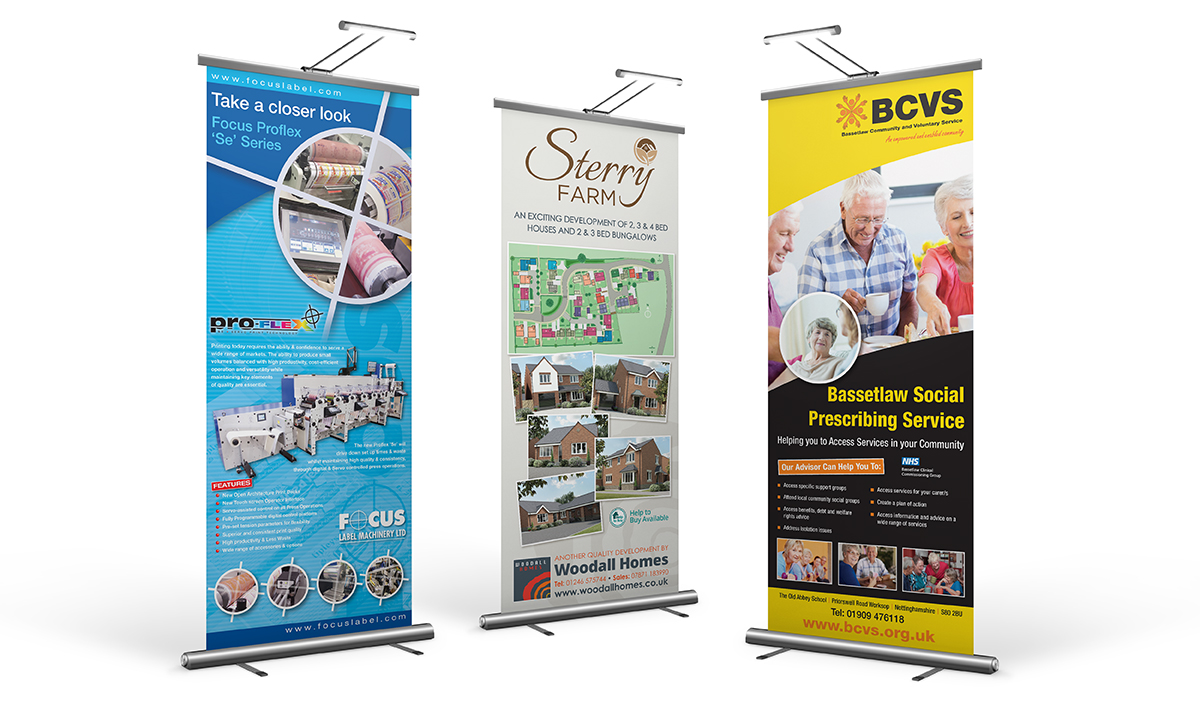 Pull Up Banners - Priory Trio